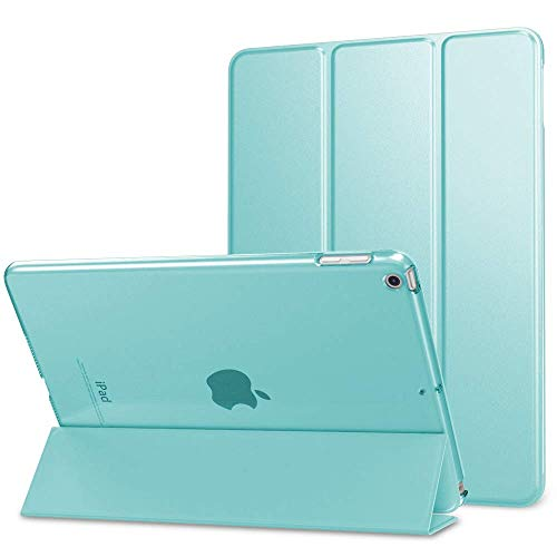Slim Smart Case Specially Designed for iPad Mini 5 inch 7.9, Flexible TPU Back Cover with Rubberized Coating, Auto Sleep/Wake and Viewing/Typing Stand for iPad Mini 5 Mint Green