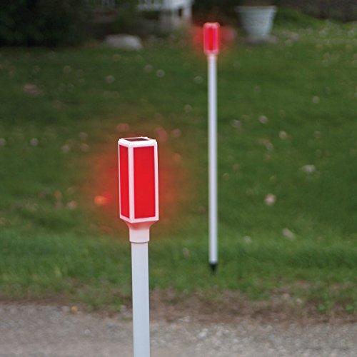 Fox Valley Traders 2 Solar Light-Up Driveway Light Markers