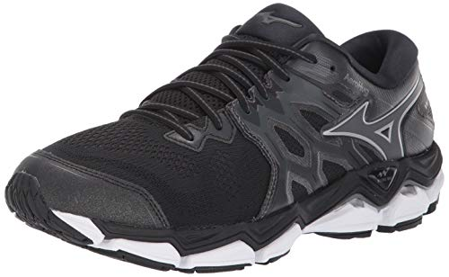 Mizuno Men's Wave Horizon 3 Running Shoe, Black-Dark Shadow, 7 D US