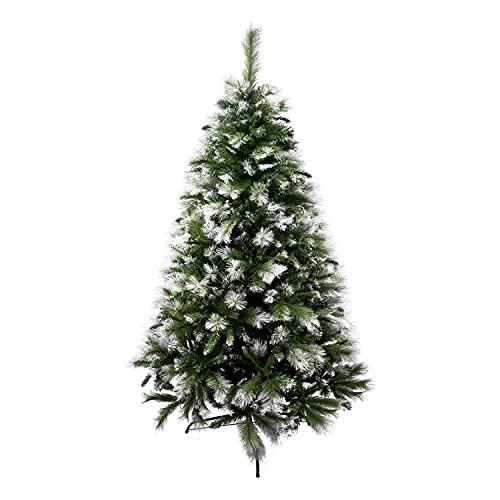 Solagua Árbol de Navidad Artificial Extra Relleno Abeto de Doble Hojas Combinadas 150-240cm Arboles C/Soporte Metálico (Nevado, 180cm 690Tips)