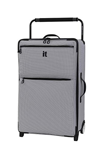 it luggage World's Lightest Urbane 2 Wheel Super Lightweight Suitcase, 75 cm, 72 L, Black/ White Two Tone