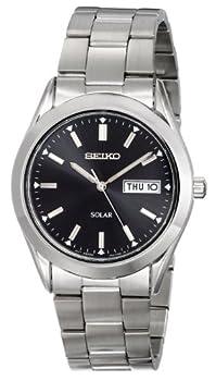 Seiko Men s SNE039 Stainless Steel Solar Watch