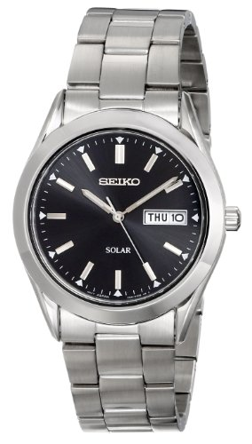 Seiko Men's SNE039 Stainless Steel Solar...