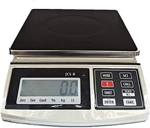 QUERT Básculas electrónicas 0,1g / 30 kg de Cocina de Alta precisión Que pesan electrónica multifunción portátil para café de Laboratorio en casa