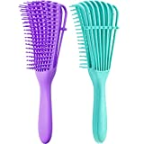 2 Pieces Detangling Brush for Afro America/ African...