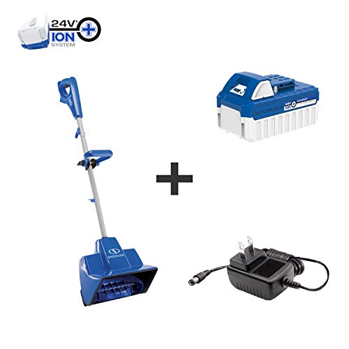 Snow Joe 24V-SS11 24-Volt 11-Inch 4-Ah Cordless Snow Shovel, Kit (w/4-Ah Battery + Quick Charger)