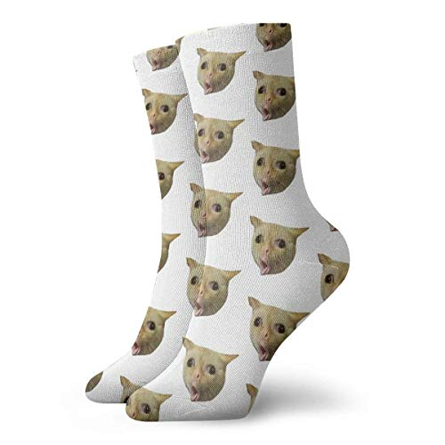 Be-ryl Husten Cat Meme Socken Casual Socken Sportsocken Fun Work Socks 30CM Für Männer/Frauen