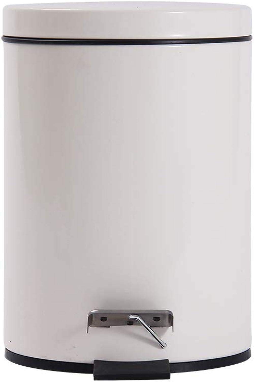 auténtico JKL-Papeleras Bote de de de Basura con Pedales para el hogar - Bote de Limpieza de Cubos de Almacenamiento en el Dormitorio, cámara Lenta, 150.00 Cocina, Bote de Basura blancoo, 8 litros  a la venta