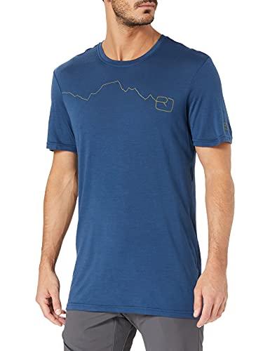 Ortovox Herren 120 Tec Mountain T-Shirt, Blue Lake, L