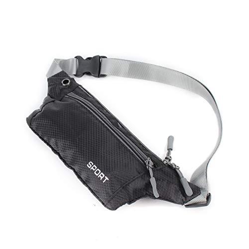 HehiFRlark - Bolso bandolera de bolsillo unisex para deporte, running Travel Security Waist Bum Bags
