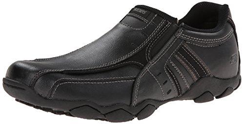 Skechers USA Men's Diameter-Nerves Slip-On Loafer,12 M US,Black Leather