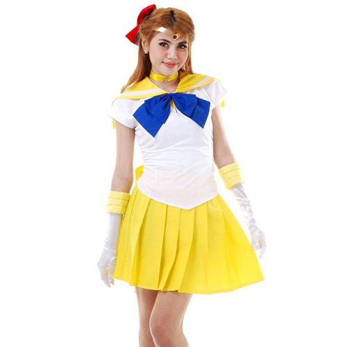 Minako Aino Sailor Venus Cosplay Kostüm Japanische Schuluniform Baumwolle XL
