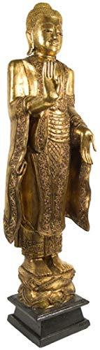Asiatika-Online.de JAPANISCHER Buddha Holz ANTIK Style Statue Figur China MÖBEL Asien 114CM GA