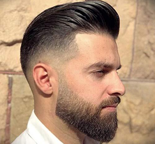 Auspiciouswig Piezas de cabello humano natural Pelucas de reemplazo de tupé para hombres Piel delgada para hombres 10x8 pulgadas (Natural Color)