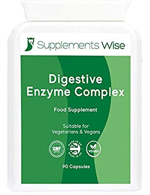 Digestive Enzyme Capsules x 90 | Digestion Supplement for a Healthy Stomach | Relief from Acid Reflux and IBS | Complex Containing Betaine HCL, Bromelaine, Papaine, Protease, Amylase, Lipase and More