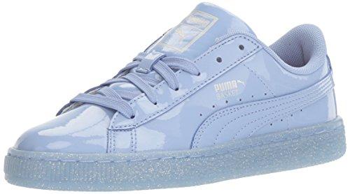PUMA Girls' Basket Patent Iced Glitter Jr Running Shoe, Lavendar Lustre, 5.5 M US Big Kid