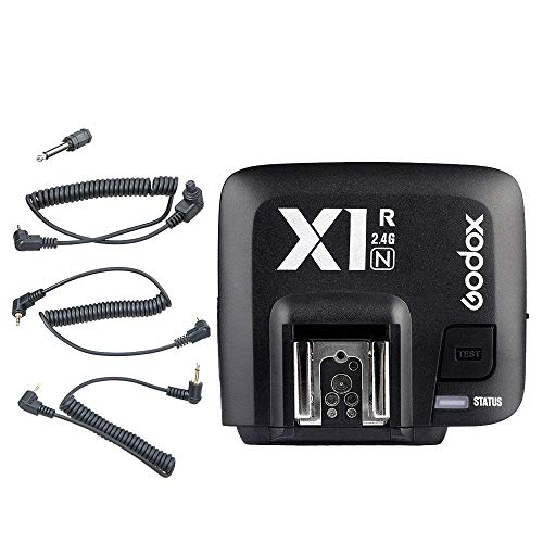 Godox X1R-N 32 canali TTL 1 / 8000s Ricevitore flash remoto wireless Rilascio otturatore per fotocamera Nikon DSLR Trasmettitore Godox X1T-N + Diffuso