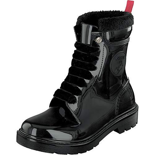 GOSCH SHOES Damen glänzende Boots Stiefel Wasserdicht 71051-301 in 3 Farben (40 EU, Schwarz)