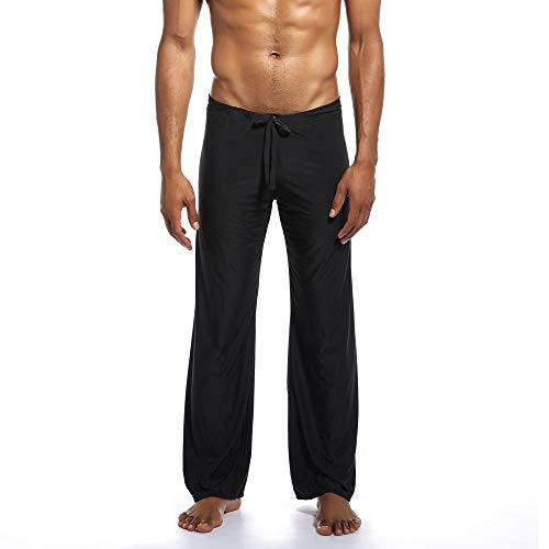 Aiserkly Herren Mode Yoga-Hosen aus reinem neuen Zuhause binden Bequeme Hosen Schwarz XL
