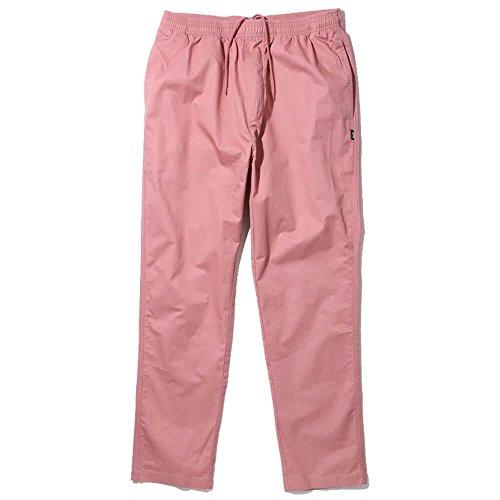 Stussy Light Twill Beach Pant Black Elastic Waist Cotton Men's Pants (Medium)