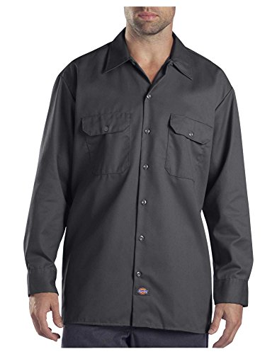 Dickies Herren Long Sleeve Work Shirt Button Down Hemd, anthrazit, 4X-Groß