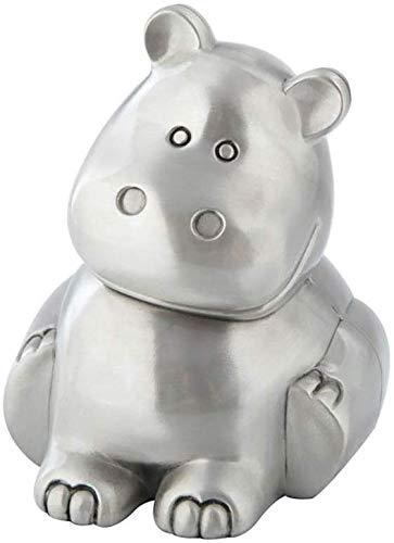 Creatieve Hippo Piggy Bank Mooie schattige Animal Piggy Bank hoofddecoratie ornamenten kinderen geschenken maken een perfect uniek cadeau (kleur: zilver, grootte: 9,8 x 8,9 x 10,5 cm) Geen brand 9.8x8.9x10.5cm zilver