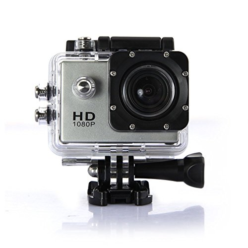 DBPOWER SJ4000 (1080P 1.5 Inch 12MP 170°A+ HD Wide-Angle Micro USB 2.0,Micro HDMI) Full HD Head Sports Outdoor Car Recorder Car Recorder DVR Cam Action Camera (Silver)