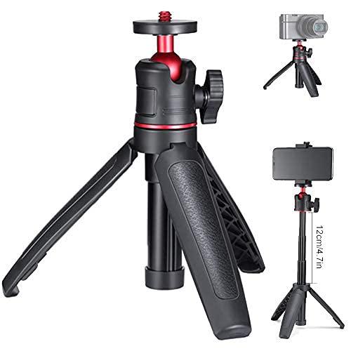 """MT-08 Prolunga Palmare Allungabile Smartphone Treppiede da Tavolo Mini Selfie Stick 1/4"""" Impugnatura per Smartphone Camera RX100 VII A6400 A6600 Fotocamere Viaggi vlogging"""