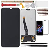 YHX-US Screen Replacement LCD Display Touch Screen Digitizer Assembly with 1 Piece Screen Protector Suitable for Huawei Honor 8X Honor View 10 Lite JSN-L21 L22 L23 L42 AL00 TL00 6.5'+Tools (Black)