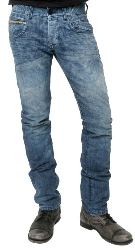Rockstar Sushi Men's Fenton Skinny Jeans in Light Wash Blue 38