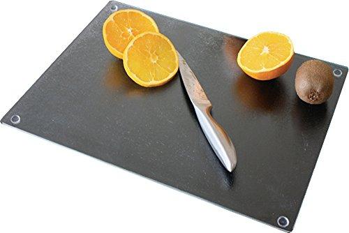 Home & Style Planche à découper en verre Noir 40 x 30 x 30 cm