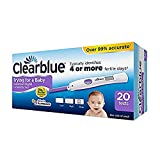 Digital Ovulation Test Kit (OPK) - Clearblue Advanced. The Only Test To Track 2 Fertility Hormones, 1 Digital Holder And 20 Tests