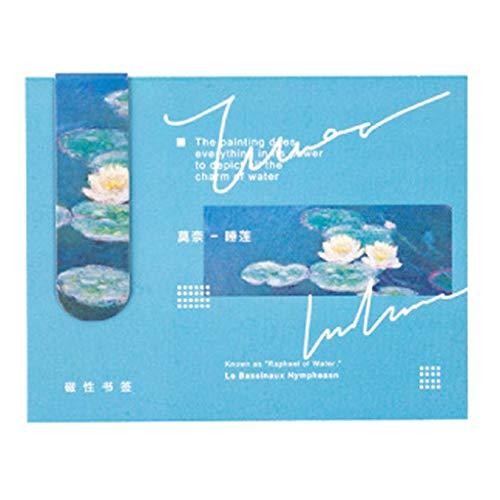 Wanfor Segnalibro Magnetico Creativo Segnalibro Van Gogh, Letteratura Arte Fai da te Segnalibro