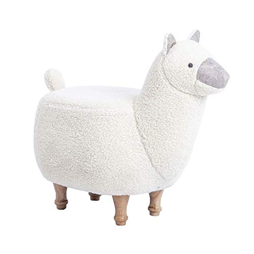 THBEIBEI Zapateros Zapatos Creativas Banco - Alpaca Zapatos Banco Grass Mud Horse Animal Bestia Personalidad Sentado Taburete reposapiés Sofá Zapatos Banco Banco de Pruebas (Color : White)