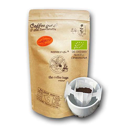 Life is You! Coffee Bags | (BIO) Tunkimayo Kaffee aus den Terrassen-Plantagen an den Hängen der Anden in Peru - handverlesen gepflückt | 15 Coffee Bags (für Becher) | in verschließbarer Zipptüte - 100