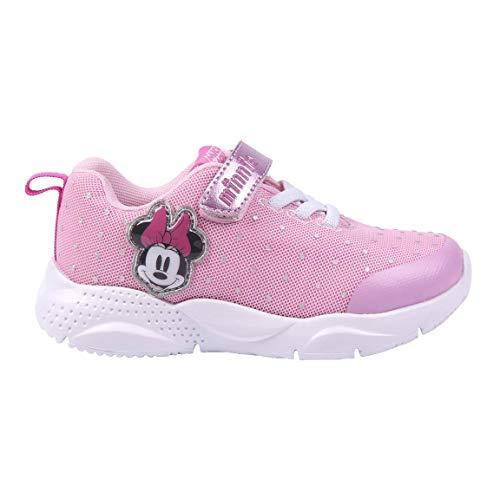 CERDÁ LIFE'S LITTLE MOMENTS, Zapatillas Deportivas Brillantes Minnie Mouse para Niñas con Licencia Oficial Disney, Rosada, 30 EU