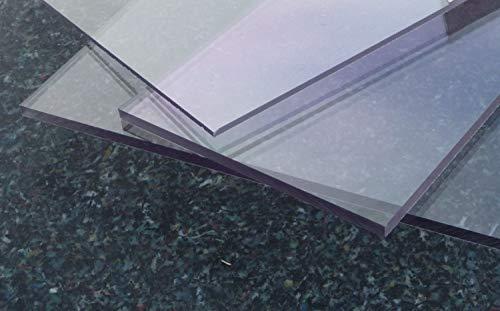 Polycarbonat UV Platte farblos 600 x 500 x 3 mm transparent