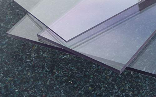 Polycarbonat UV Platte farblos 600 x 500 x 3 mm transparent