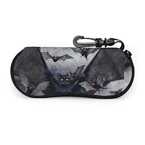 Estuche para gafas Bat In The Dark Estuche blando para gafas de sol con cremallera de neopreno portátil unisex