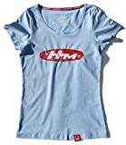 Vintage Culture Officially Licensed Honda Motorsports HM Brand Logo Tee Shirt Womens Automotive Racing Apparel Heather Blue X-Large