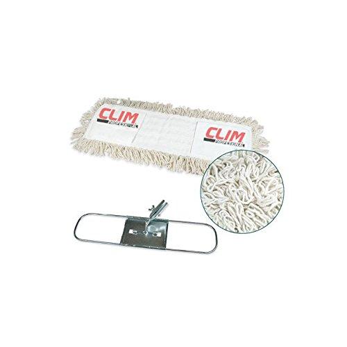 Mopa plana industrial de algodón de 15x75 cms con bastidor