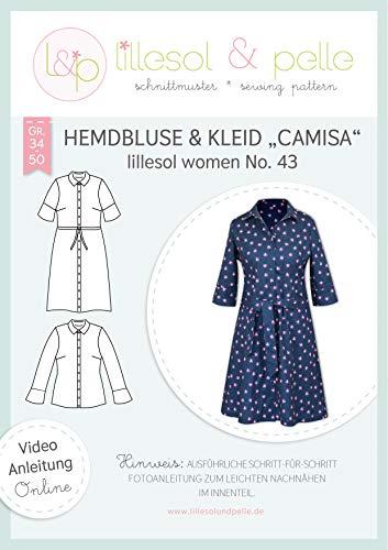 lillesol & pelle Schnittmuster lillesol Women No.43 Hemdbluse & Kleid Camisa. in Größe 34-50 zum Nähen mit Foto-Anleitung und Video