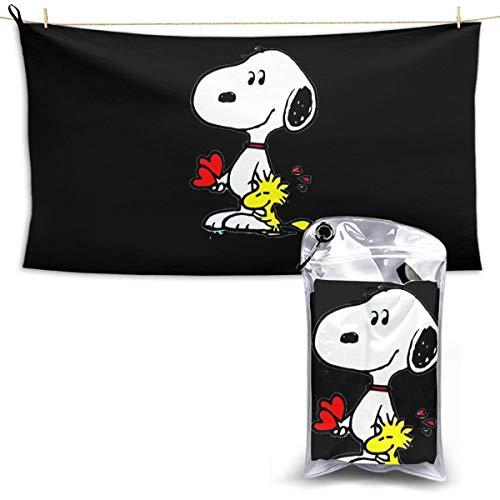 N / A Peanuts Snoopy Schal Handtuch Towel Schnelltrocknende Handt¨¹Cher Leichtes Und Schnell Trocknendes Badetuch Reisetuch