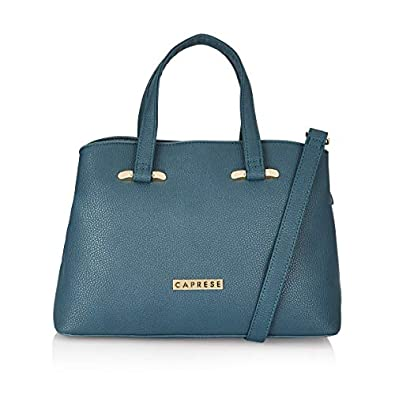 Caprese Womens Zip Closure Satchel Handbag