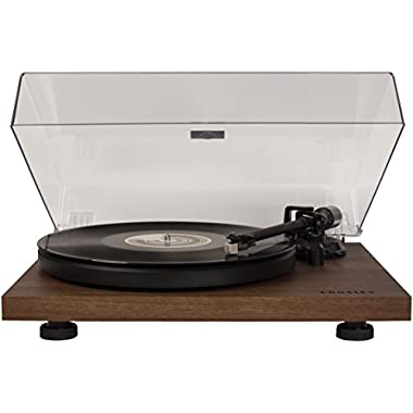 Crosley C6A-WA 2-Speed Belt-Driven Turntable with Built-In Pre-Amp, Walnut