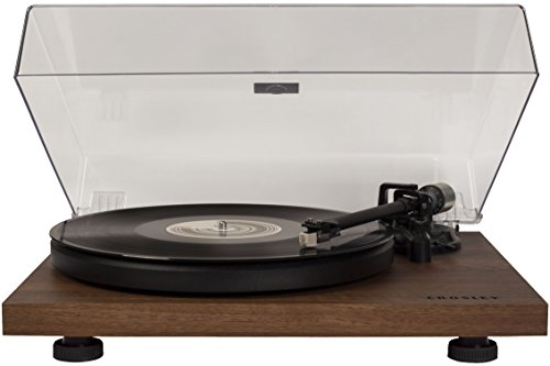 top rated Crosley C6 2-speed turntable, built-in preamp and adjustable arm – walnut 2020