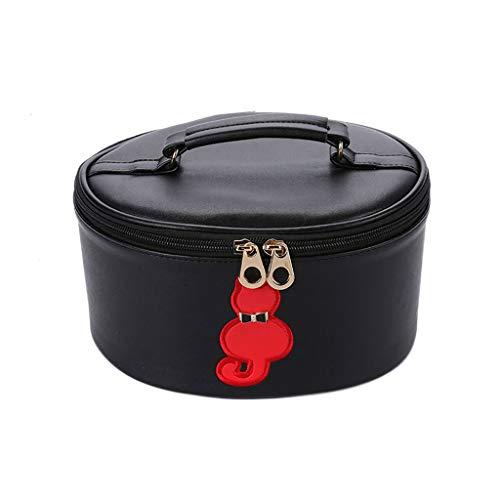 Sac cosmétique portatif Simple portatif Simple portatif de Grande capacité de Cas cosmétique (Color : Black, Taille : 20 * 14 * 10cm)