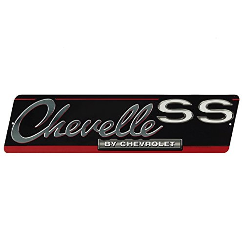 Open Road Brands Chevrolet Chevelle SS Sign Vintage Tin Metal Wall Art - an Officially Licensed Product Great Addition to Add What You Love to Your Home/Garage Decor
