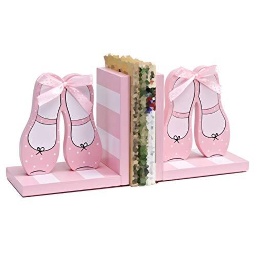 QIYINGYING Book Block kreative rosa Prinzessin Tanzschuhe Kinderzimmer-Schlafzimmer Schlafzimmer dekoratives Massivholz