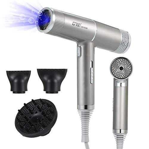 Asciugacapelli, Anself Asciugacapelli Regolazione a tre marce Protezione contro il surriscaldamento a basso rumore con 3 ugelli Anion Hair Care